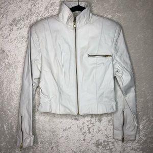 Vintage AVON FASHIONS White Genuine Leather Jacket